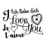 Ich liebe dich, I love you, Je t'aime
